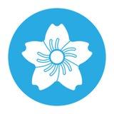 Icono de la flor Fotos de archivo