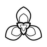 Icono de la flor Imágenes de archivo libres de regalías