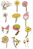 Icono de la flor de la historieta Fotografía de archivo