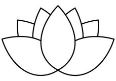 Icono de la flor de Lotus Fotos de archivo libres de regalías