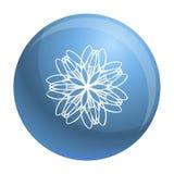 Icono de la flor del logotipo, estilo simple libre illustration