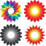 Icono de la flor del vector Imagen de archivo libre de regalías