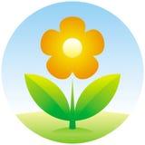 Icono de la flor del vector Imagenes de archivo