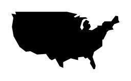 Icono de la forma del país de América Imagen de archivo libre de regalías