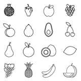 Icono de la fruta Imagen de archivo libre de regalías