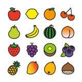 Icono de la fruta Imagen de archivo