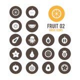 Icono de la fruta Fruta rebanada Ilustración del vector stock de ilustración