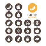 Icono de la fruta Ilustración del vector Fotos de archivo