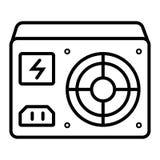 Icono de la fuente de alimentación stock de ilustración