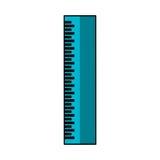 Icono de la fuente de escuela de la regla Imagen de archivo libre de regalías