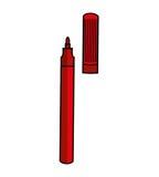 Icono de la fuente de escuela del marcador Imagenes de archivo