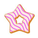 Icono de la galleta de la estrella, estilo plano ilustración del vector