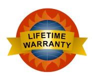 Icono de la garantía de por vida Fotografía de archivo