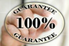 icono de la garantía del 100 por ciento Imagen de archivo libre de regalías