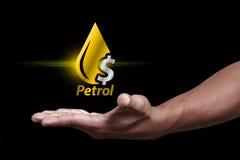 Icono de la gasolina Foto de archivo libre de regalías