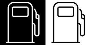 Icono de la gasolinera foto de archivo