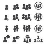 Icono de la gente Foto de archivo libre de regalías