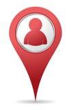 Icono de la gente de la localización Foto de archivo