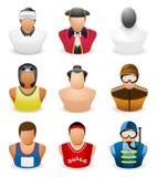 Icono de la gente del avatar: Deporte de la ocupación # 5 Foto de archivo libre de regalías