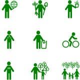 Icono de la gente en el tema de la ecología ilustración del vector