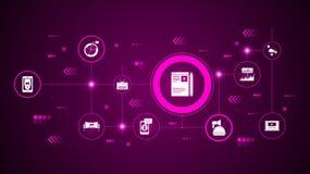 Icono de la gestión del blog Del márketing de Digitaces, sistema de la promoción libre illustration
