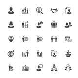 Icono de la gestión y del recurso humano en Whit Background Fotos de archivo libres de regalías