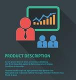 Icono de la gestión del proyecto, icono de la descripción de producto Imagen de archivo