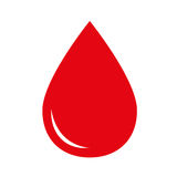 Icono de la gota de sangre Foto de archivo libre de regalías