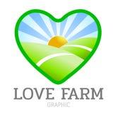 Icono de la granja del amor ilustración del vector