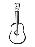 Icono de la guitarra acústica Imágenes de archivo libres de regalías