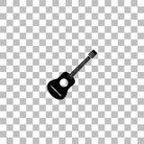 Icono de la guitarra ac?stica completamente stock de ilustración