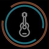 Icono de la guitarra - instrumento de música acústico ilustración del vector