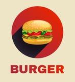 Icono de la hamburguesa Fotos de archivo libres de regalías