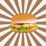 Icono de la hamburguesa EPS10 Fotos de archivo libres de regalías