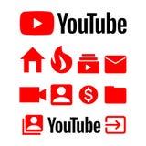 Icono de la historia de YouTube stock de ilustración