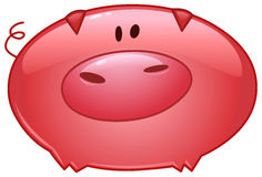 Icono de la historieta del cerdo Imagen de archivo libre de regalías