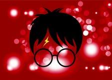 Icono de la historieta de Harry Potter, vector mínimo del estilo libre illustration