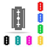 Icono de la hoja de afeitar de seguridad Iconos coloreados multi de Barber Element para los apps móviles del concepto y del web I Foto de archivo