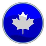 Icono de la hoja de arce imagen de archivo libre de regalías