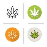 Icono de la hoja de la marijuana Foto de archivo