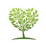 Icono de la hoja del árbol del hogar fotos de archivo libres de regalías