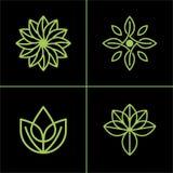 Icono de la hoja o negocio natural de Logo Vector Design For Your stock de ilustración