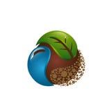Icono de la hoja y de la suciedad del agua Imagen de archivo