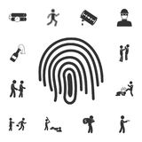 Icono de la huella dactilar Ejemplo simple del elemento Diseño del símbolo de la huella dactilar del sistema de la colección del  stock de ilustración