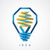 Icono de la idea de la bombilla Imágenes de archivo libres de regalías