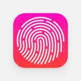 Icono de la identificación app Imagenes de archivo