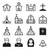 Icono de la iglesia Imagen de archivo libre de regalías