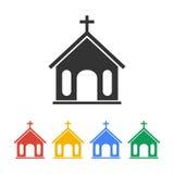 Icono de la iglesia Ilustración Fotos de archivo libres de regalías