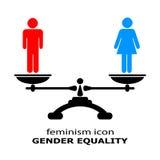 Icono de la igualdad de género Fotos de archivo libres de regalías