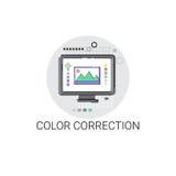 Icono de la industria de la producción de la película de la cámara de la corrección del color libre illustration